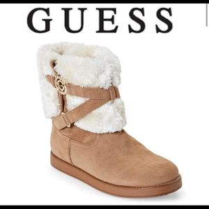 Guess fur lined cozy short bootie bling warm